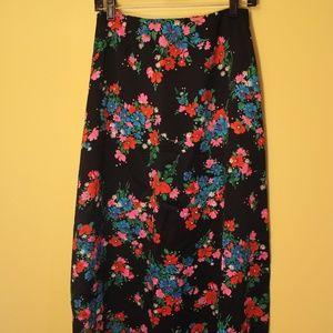 Floral Spring Maxi Skirt Vintage 60s 70s